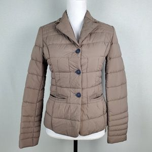 Aquarama Puffer Jacket Button Closure